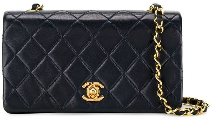 958971a3fa8fe9 ... Navy Quilted Leather Crossbody Bags Chanel Vintage Quilted Crossbody Bag