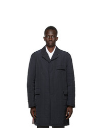 Thom Browne Navy Down Rwb Stripe Chesterfield Coat