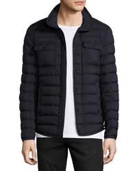 Moncler Faust Puffer Shirt Jacket Navy