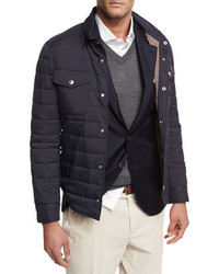Brunello Cucinelli Milano Quilted Shirt Jacket