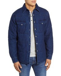Madewell Quilted Indigo Shirt Jacket