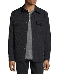 Tom Ford Quilted Shirt Jacket Navy