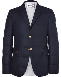 Moncler Gamme Bleu Quilted Wool Down Blazer