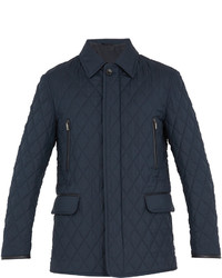 Brioni Diamond Quilted Wool And Silk Blend Field Jacket