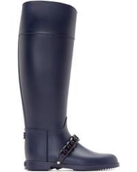 Givenchy Navy Chain Eva Rain Boots