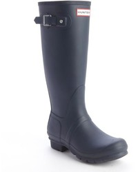 Hunter Navy Rubber Bucklestrap Rain Boots