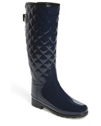 Original refined high gloss quilted rain boot medium 5168643