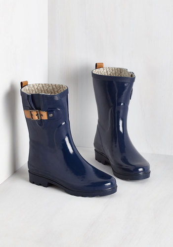 Washington Shoe Company Chooka Puddle It Be Rain Boot In Navy ...