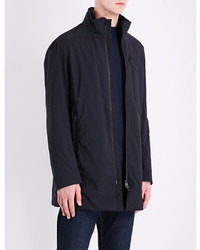 Armani Collezioni Faux Fur Lined Quilted Raincoat