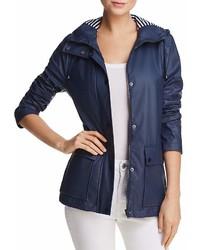 Aqua Hooded Raincoat 100%