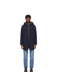 Levis Made and Crafted Navy Lmc Drovers Coat