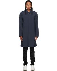 Kenzo Navy Packable Mac Coat