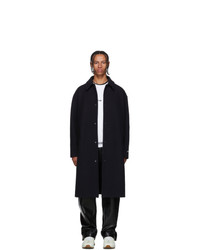 MSGM Navy Turbo Car Coat