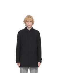 Ermenegildo Zegna Navy Wool Mac Coat