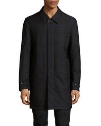 Canali Tartan Twilled Printed Raincoat