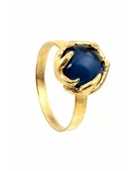 House Of Harlow 1960 Antler Button Ring In Yellow Gold