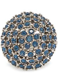 Oscar de la Renta Crystal Embellished Dome Ring