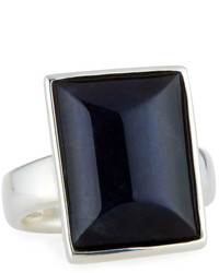 Stephen Dweck Faceted Rectangular Labradorite Ring