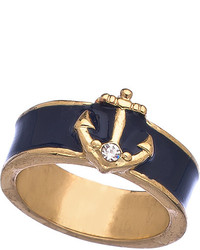 Blu Bijoux Navy Enamel Nautical Ring