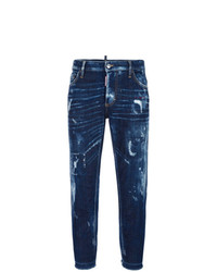 Dsquared2 Boyfriend Distressed Bleached Jeans