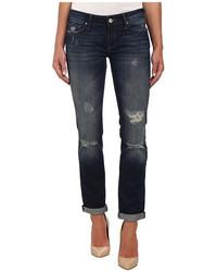Mavi Jeans Emma Slim Boyfriend In Dark Ripped Authentic