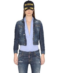 Dsquared2 Perfetto Washed Cotton Denim Jacket
