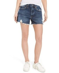 Agolde parker distressed denim shorts medium 4015038