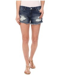 Denim ripped cut off shorts in string dance shorts medium 419364