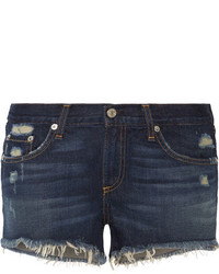Distressed cut off denim shorts blue medium 3715761