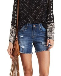 Charlotte Russe Dollhouse Destroyed Cut Off Denim Shorts