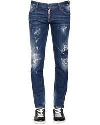 DSQUARED2 175cm Distressed Stretch Denim Jeans