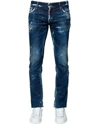 DSQUARED2 175cm Slim Destroyed Cotton Denim Jeans