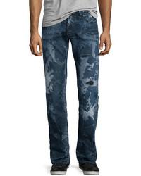 Barracuda distressed bleached denim jeans blue medium 705115