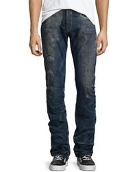 PRPS Barracuda Distressed Wash Denim Jeans Dark Blue