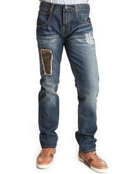 Buyers Picks Camo Repair Rip Off Denim Jeans