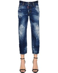 Destroyed tomboy cropped denim jeans medium 3744567