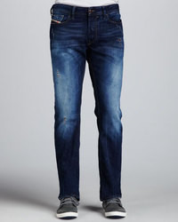 Diesel Men&39s Navy Ripped Jeans from Neiman Marcus | Lookastic for Men