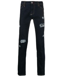 Philipp Plein Distressed Fitted Jeans