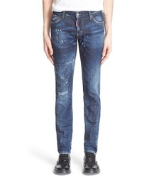 Distressed slim fit jeans medium 595687