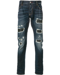 Philipp Plein Distressed Straight Leg Jeans