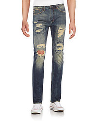 Billionaire Boys Club Distressed Straight Leg Jeans