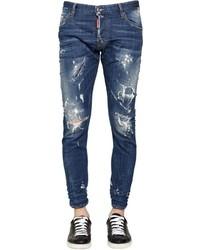 DSQUARED2 16cm Sexy Twist Distressed Denim Jeans