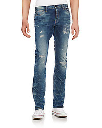 PRPS Esther Distressed Straight Leg Jeans