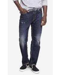 Express Loose Fit Blake Dark Wash Straight Leg Jean