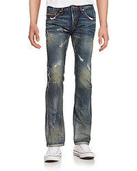 Cult of Individuality Greaser Distressed Straight Leg Jeans