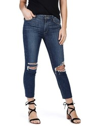 Jacqueline high rise ripped straight leg jeans medium 4014630