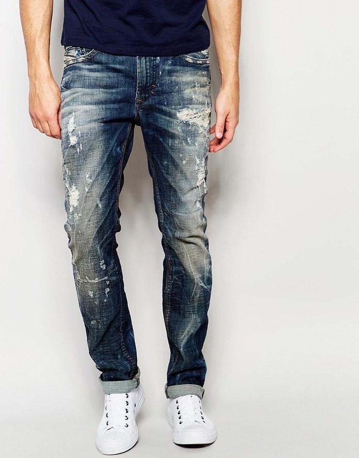 Diesel thavar jean slim bleu