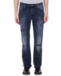 Nudie Jeans Nudie Distressed Thin Finn Jeans Black