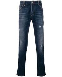 Philipp Plein Printed Slim Fit Jeans
