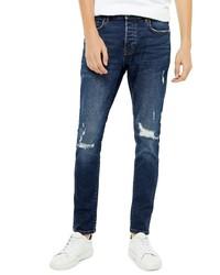Topman Ripped Slim Fit Jeans